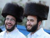 Ortodox zsidó zarándokok során az ünneplők Ros hásáná, a zsidó újév Uman, Ukrajna.