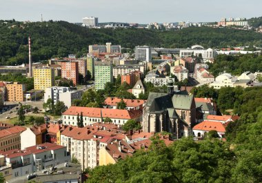 Brno cityscape with Basilica of the Assumption of Our Lady, Brno
