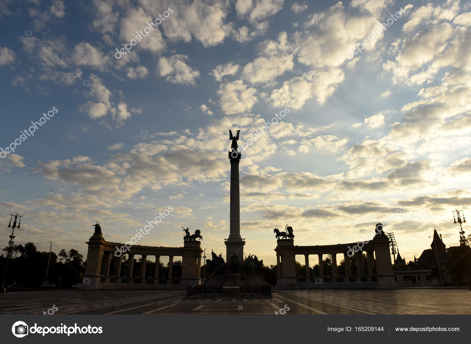 Millennium monument at heroes square in budapest hungary stock stock photo millennium monument at heroes square in budapest hungary photo by bumble dee biocorpaavc
