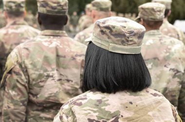 US soldiers. Woman in army. Military of USA. US soldiers woman.