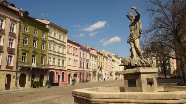 Lviv, Ukrajna - Április 17, 2020: Üres központi piac tér (Rynok tér) Lviv.