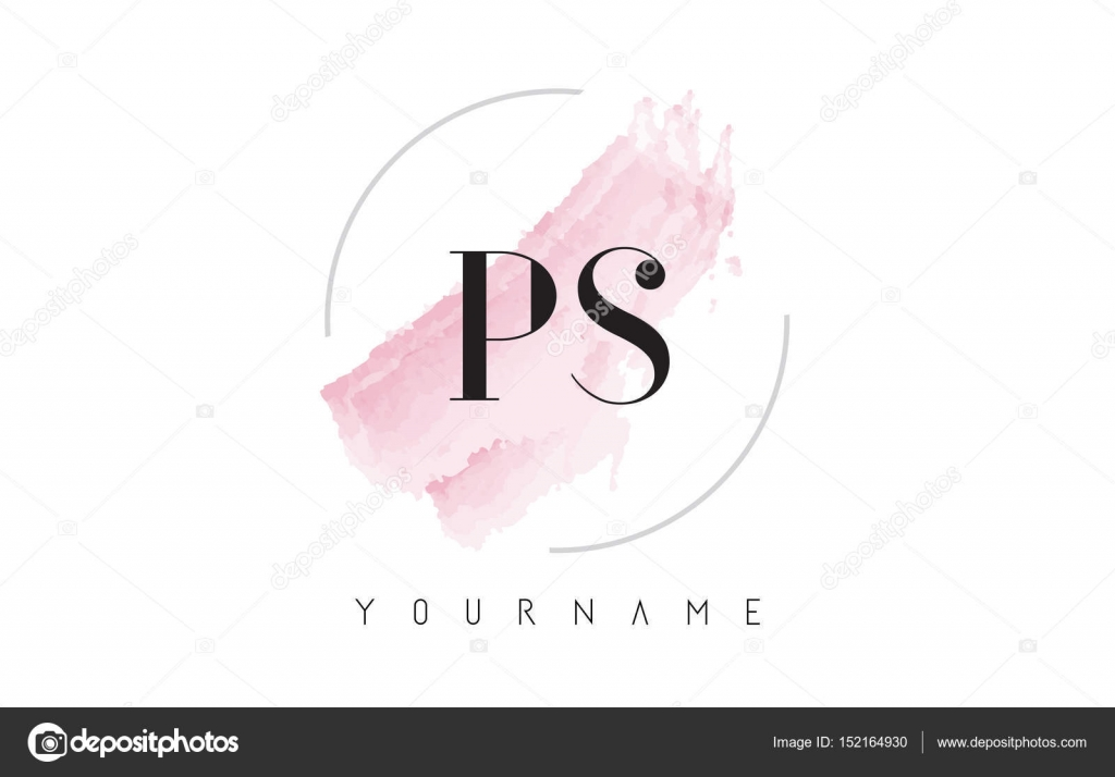 Ps p s watercolor letter logo design with circular brush pattern ps p s watercolor letter logo design with circular brush pattern stock vector thecheapjerseys Choice Image