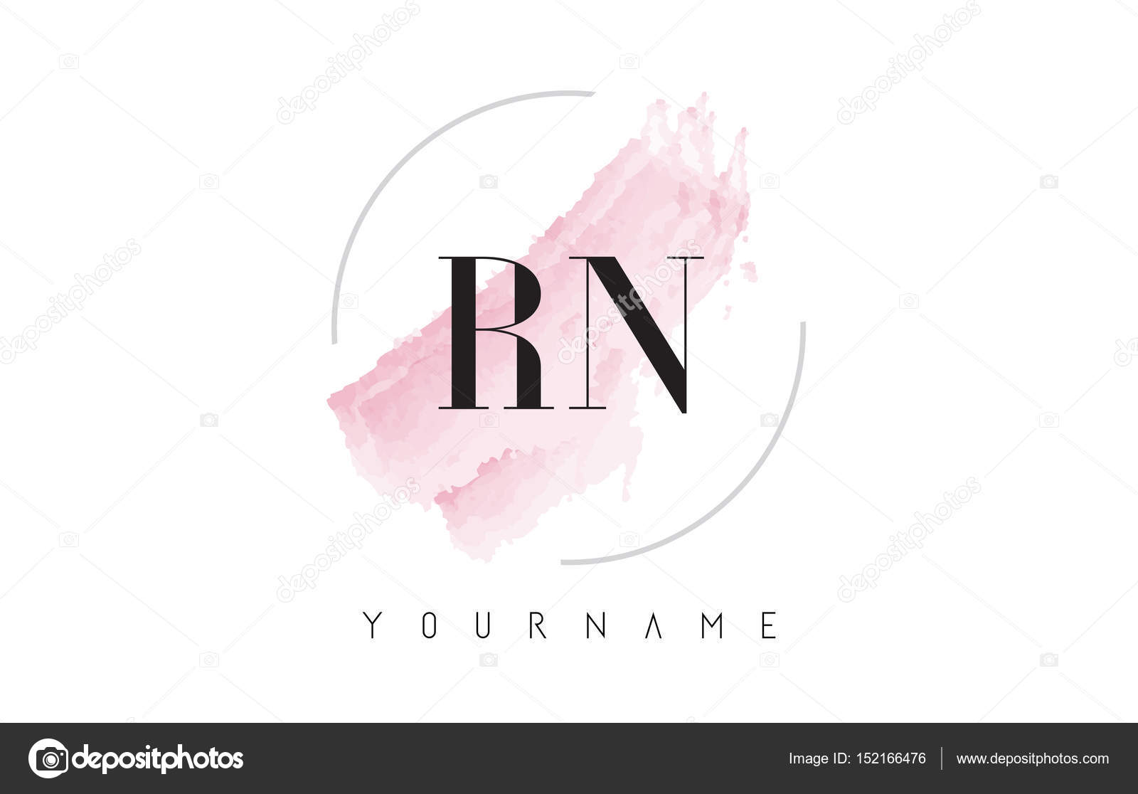 Rn r n watercolor letter logo design with circular brush pattern rn r n watercolor letter logo design with circular brush pattern stock vector altavistaventures Gallery