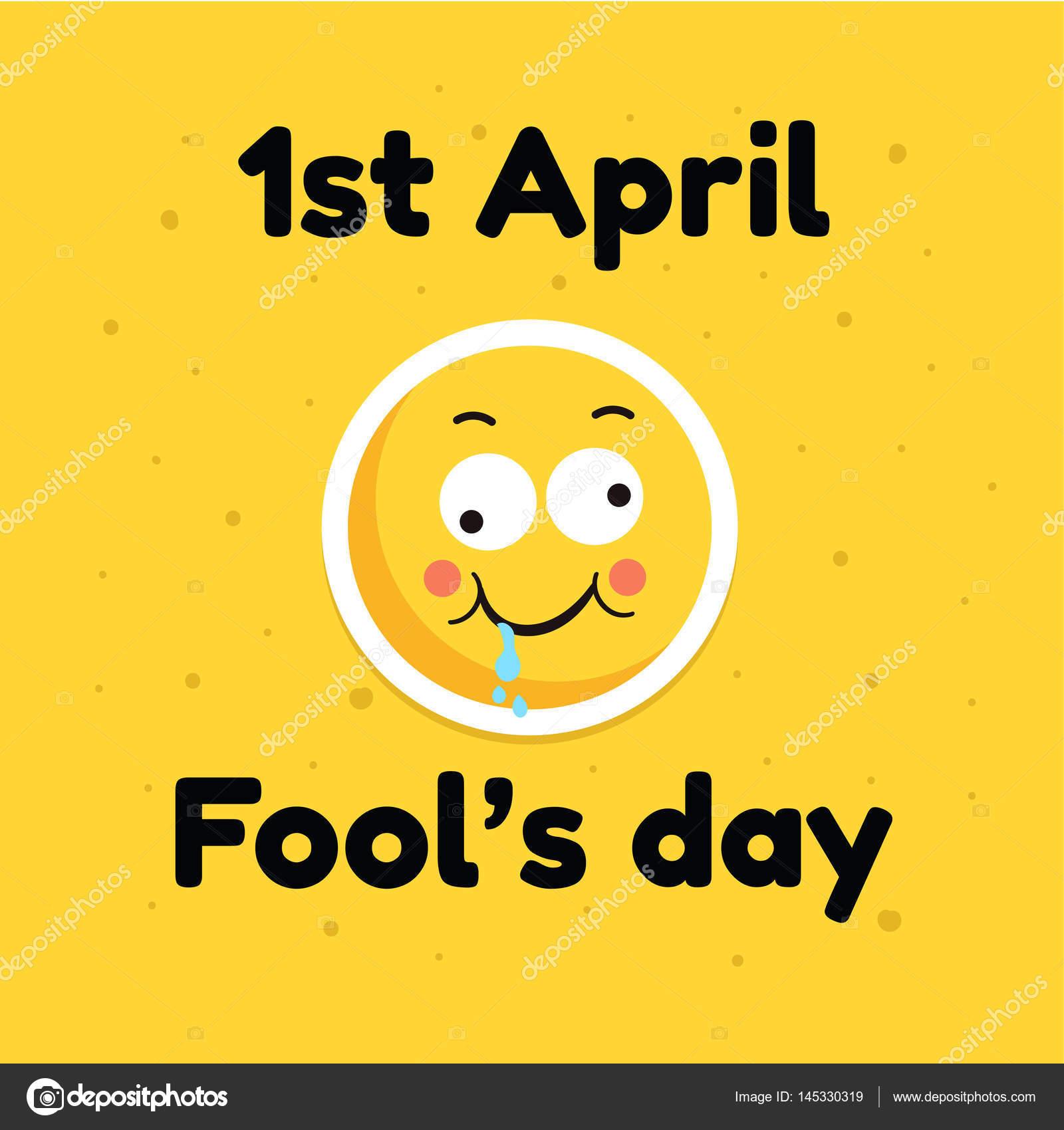 Narren Sie Tag April Urlaub Grußkarten Banner Comic Emoticon Gesicht