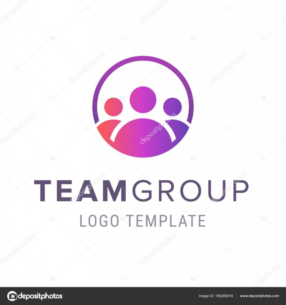 Team Gruppe Logo Vorlage. Kreative Menschen-Logo-Design-Vorlage mit ...