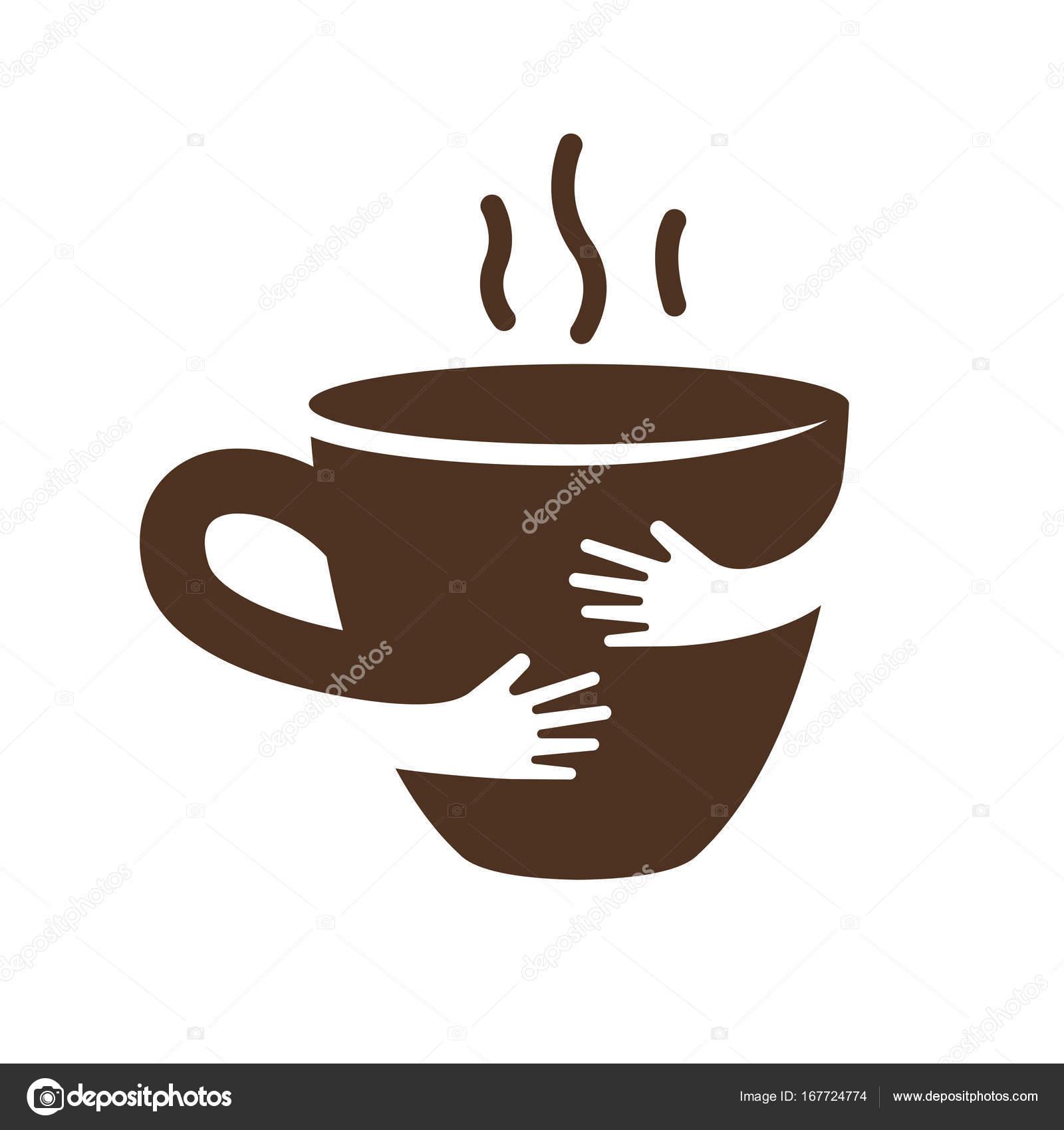 Creative Coffee Or Tea Cup And Hands Logo Design Cafe Or Restaurant Symbol Unique Logotype Design Template Hug Hot Cup Vector Illustration Stock Vector C Plahotya 167724774