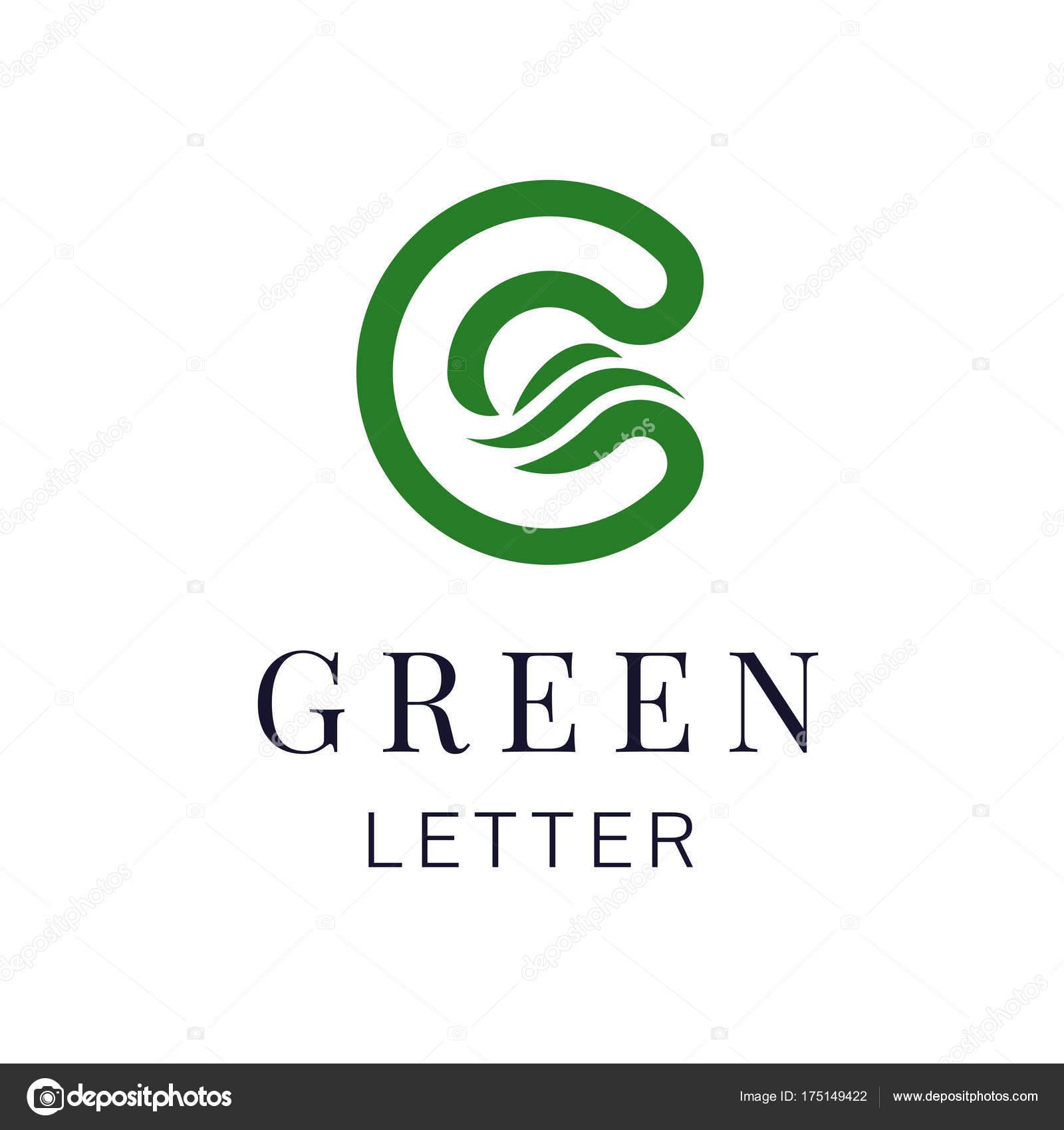 a57c697499 Letra C eco folhas de elementos de modelo de design de ícone de logotipo.  Sinal