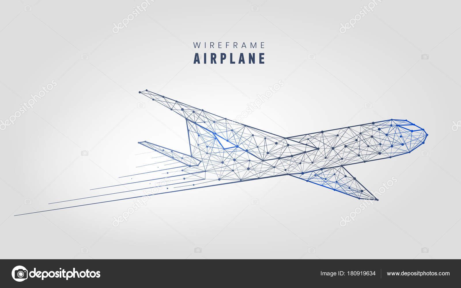 Wireframe Bird Flying Wire Center 00 Authorrebekka Keyword Radio Control Car Receiver Fromseekic Polygonal Airplane Structure Template Low Poly Plane On Rh Depositphotos Com Beautiful Birds Cartoon
