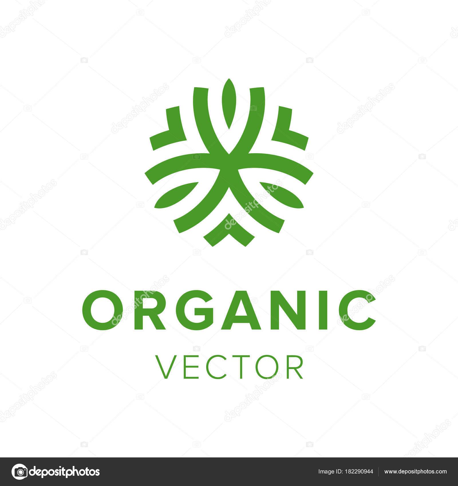 Sello creativo orgánico. Diseño de logo de productos respetuosos con ...