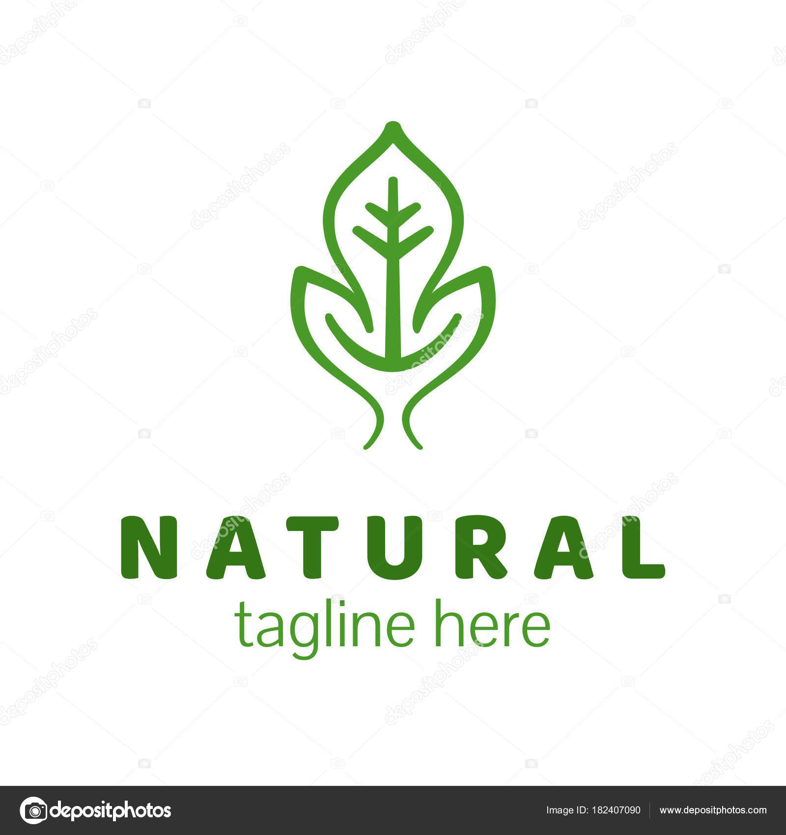 Diseño de la insignia del producto natural. Icono de plantilla ...