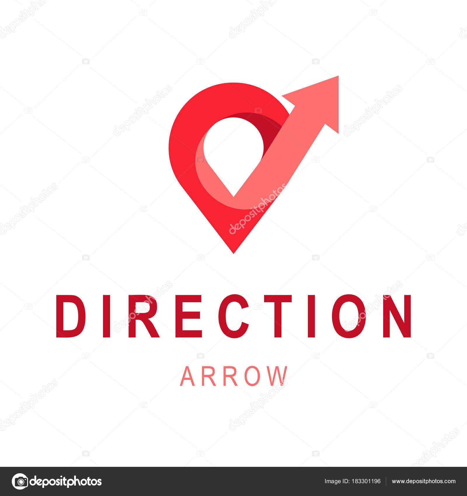 Plantilla de logotipo de flecha de dirección. Concepto abstracto ...
