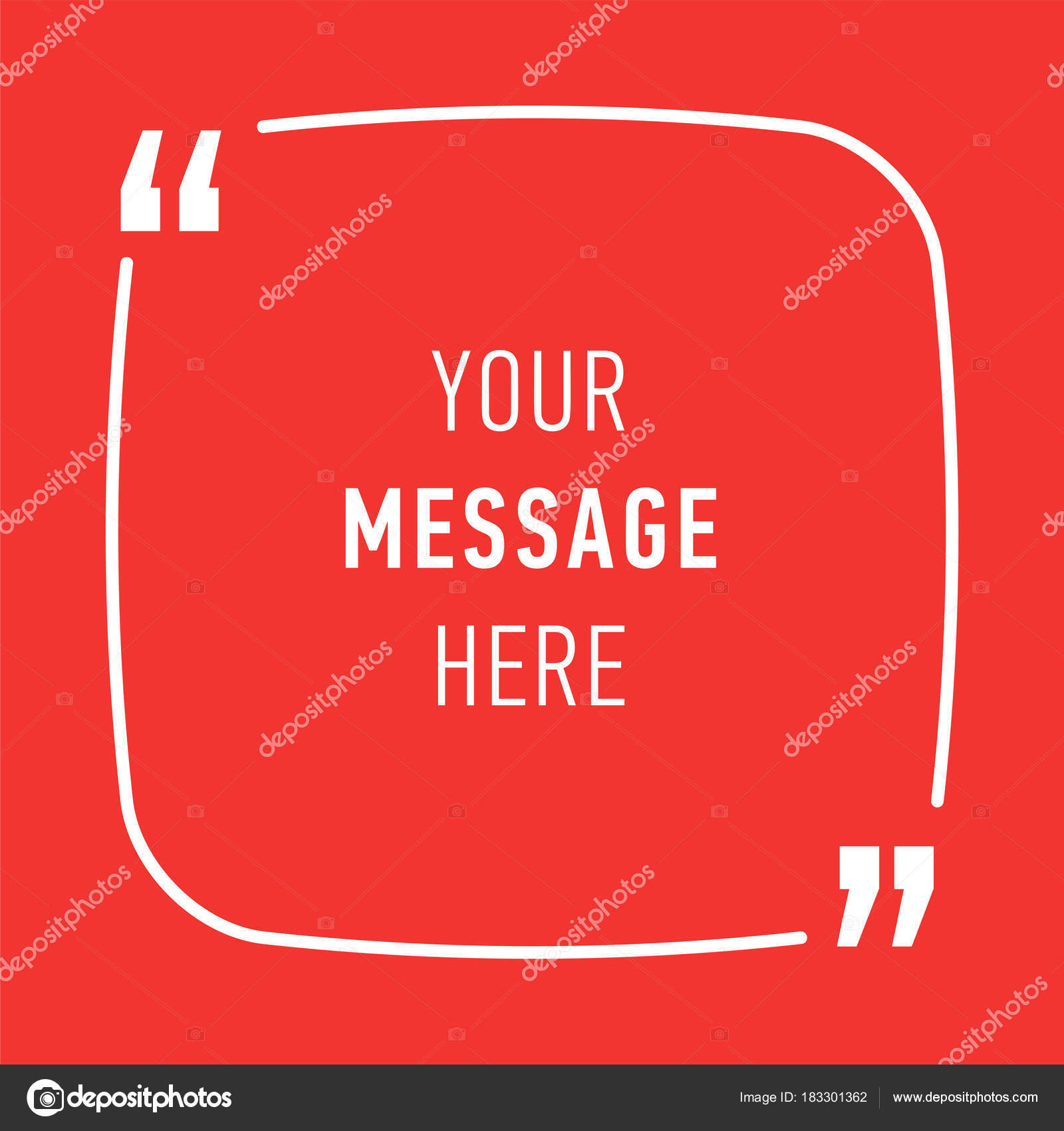 inspirational quote template background for text message in chat