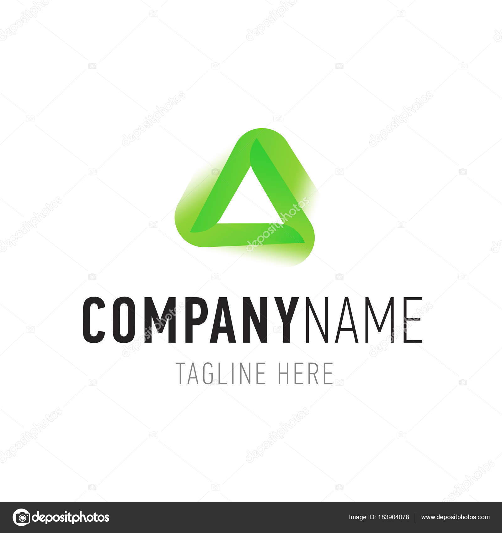 Triangle green abstract isolated element for logo design stock illustration triangle green abstract isolated element for logo design corporate identity symbols with company name buycottarizona