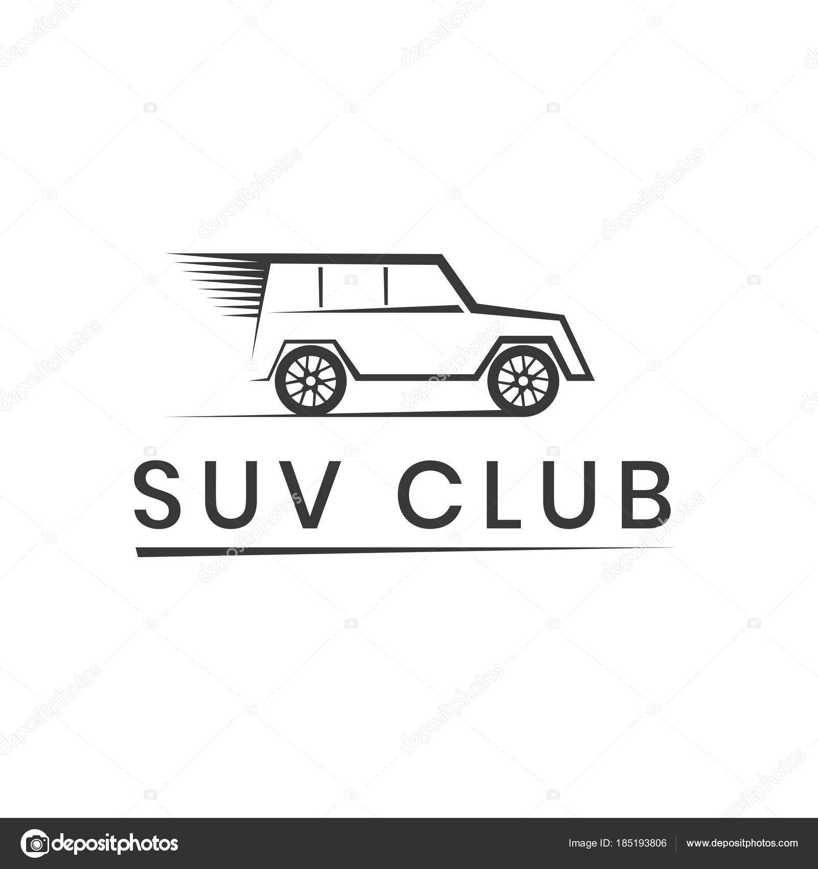 Plantilla de logotipo de club de SUV. De emblema de la competición ...