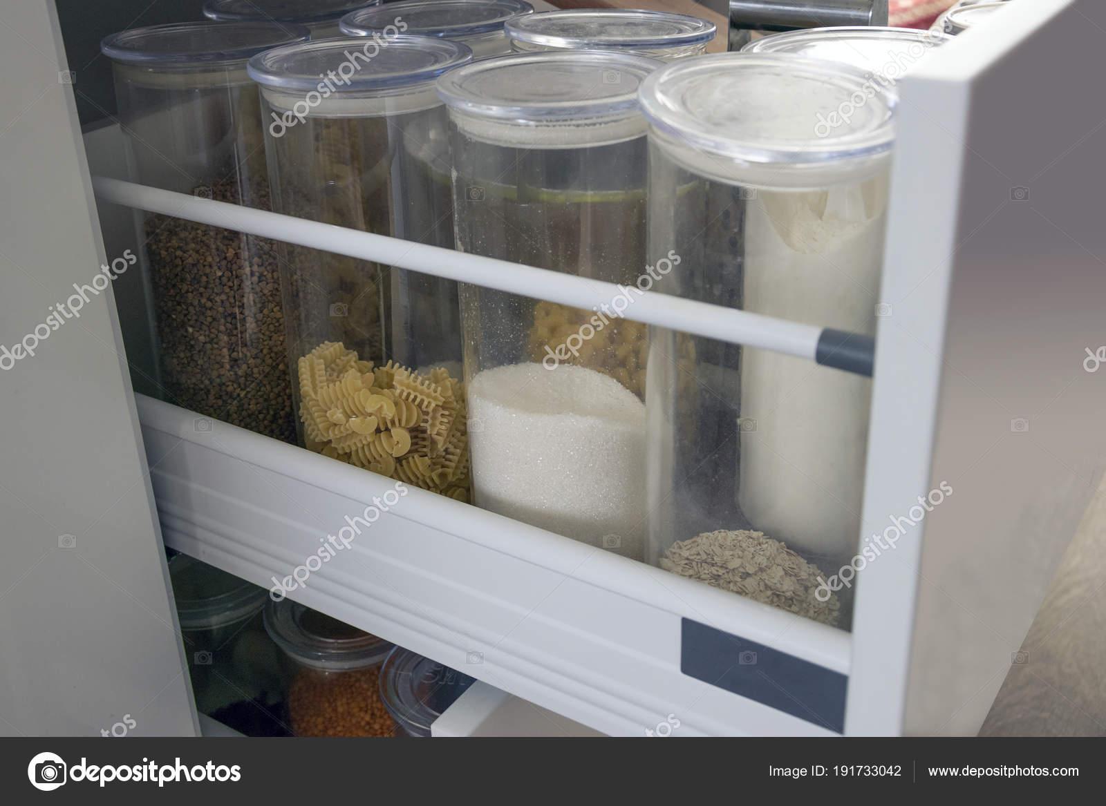 Moderne Küchenarbeitsplatte Mit Lebensmittelzutaten Draufsicht Der