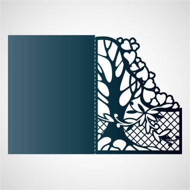 Openwork frame with tree and hearts.