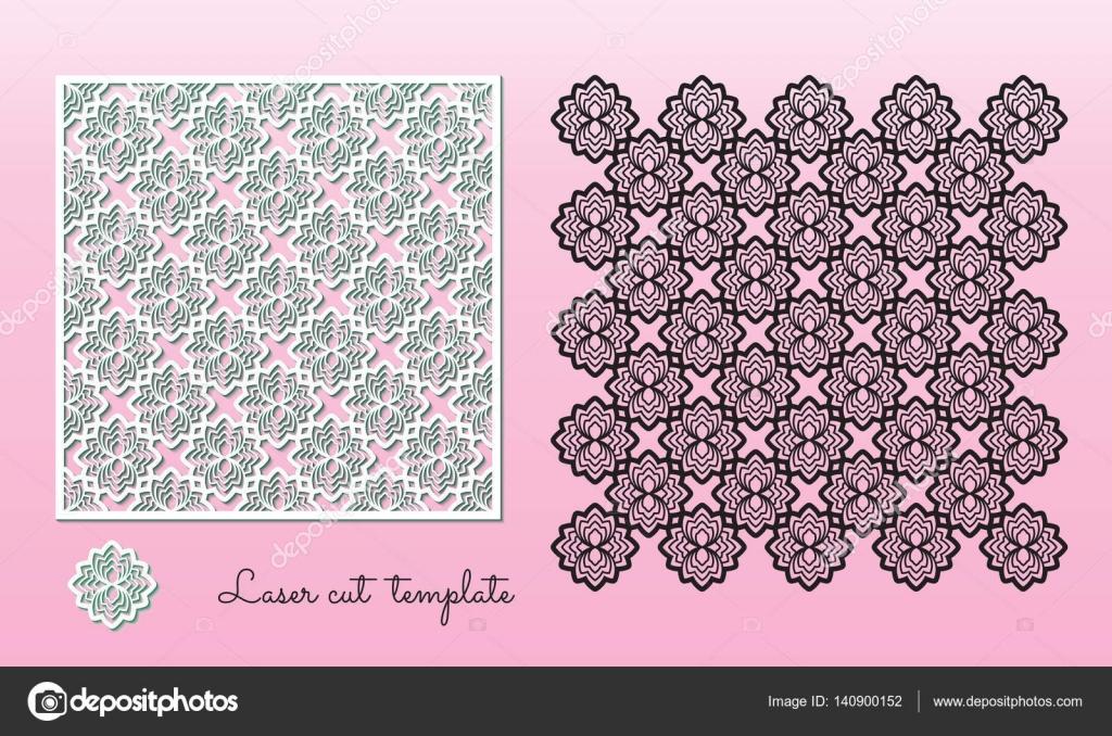 Calada Tallada Panel Con Un Patrón Floral Plantilla De