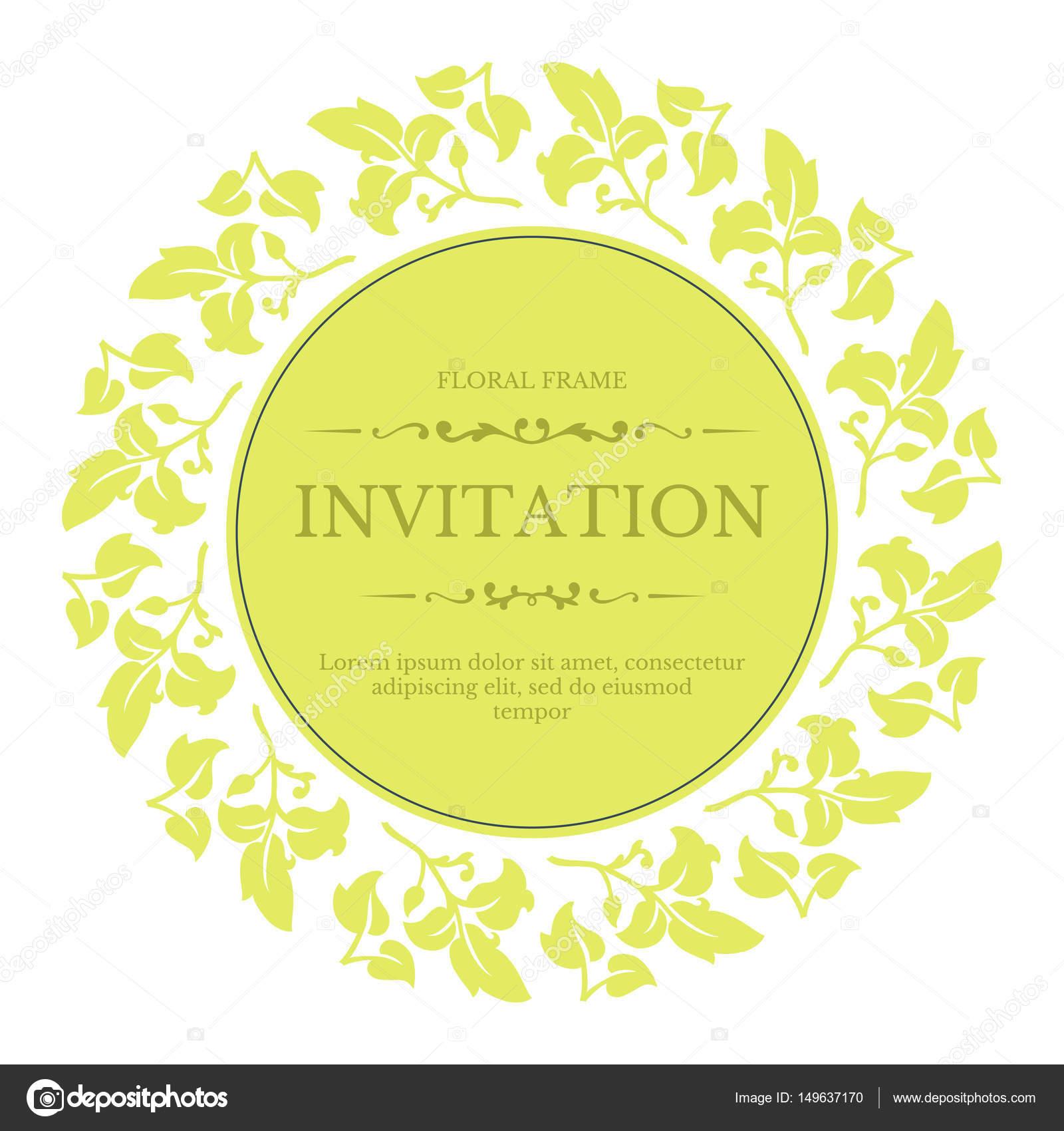 f33658f6c296 Conception élégante invitation festive floral dans le style classique —  Image vectorielle