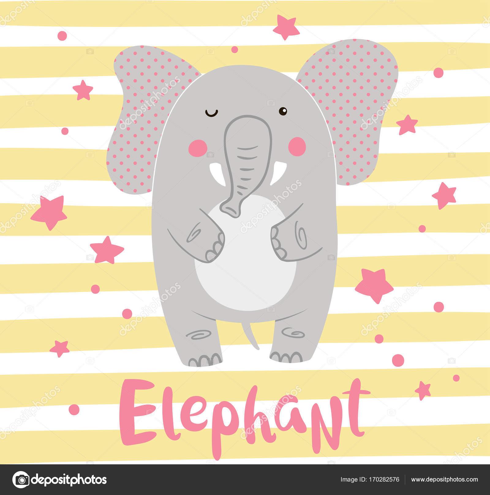 Invitaciones De Baby Shower Nina De Elefantes Elefante De Dibujos
