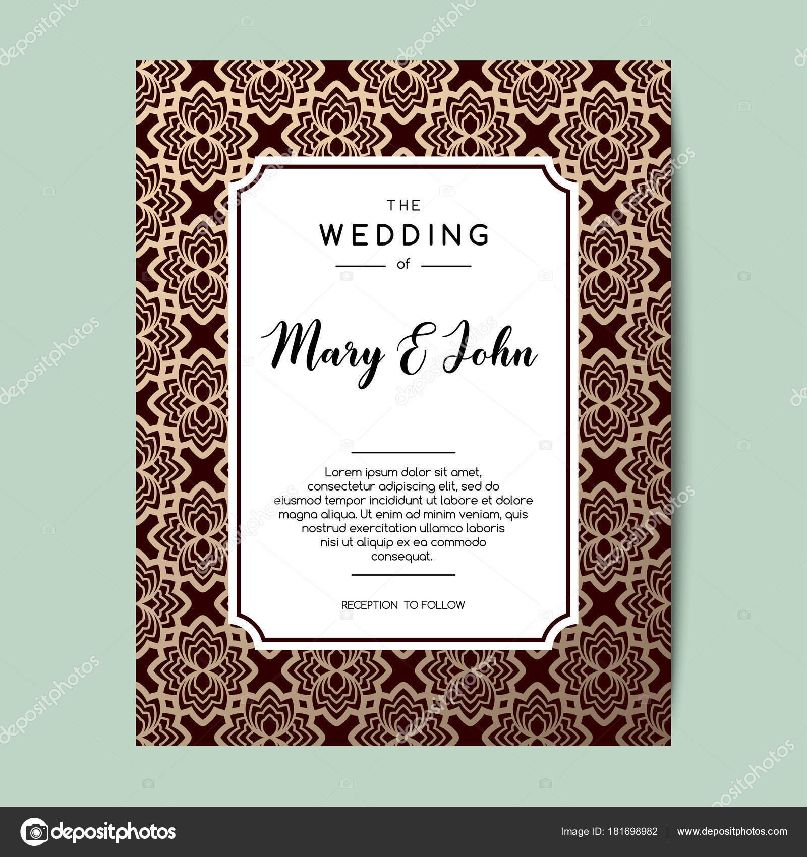 Elegant wedding invitation background. Card design with floral ...