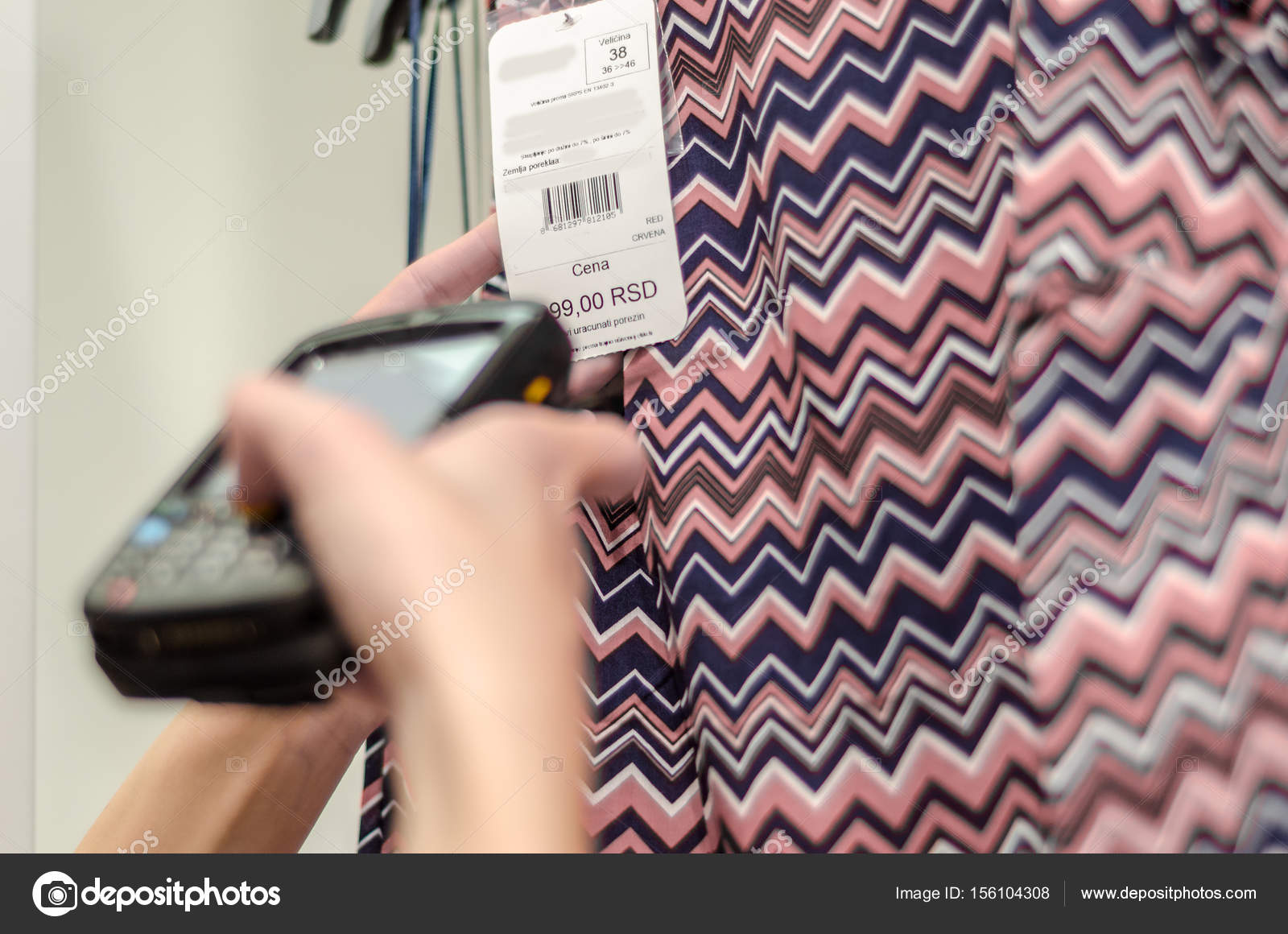Worker Holding Device Reducing Price Bar Code Scanner
