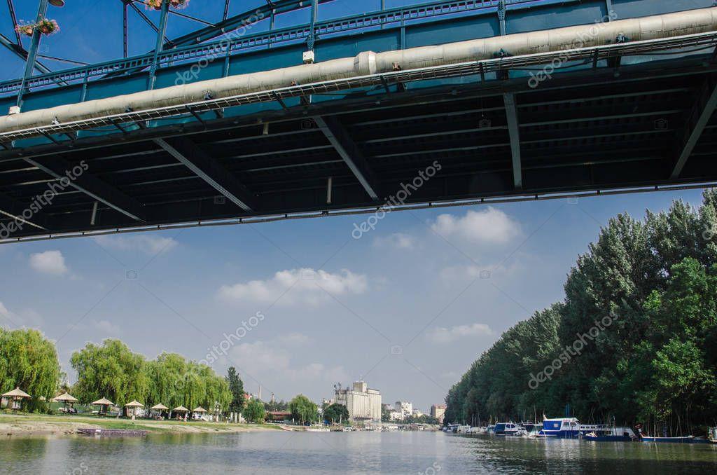 bridge in the town of Pancevo