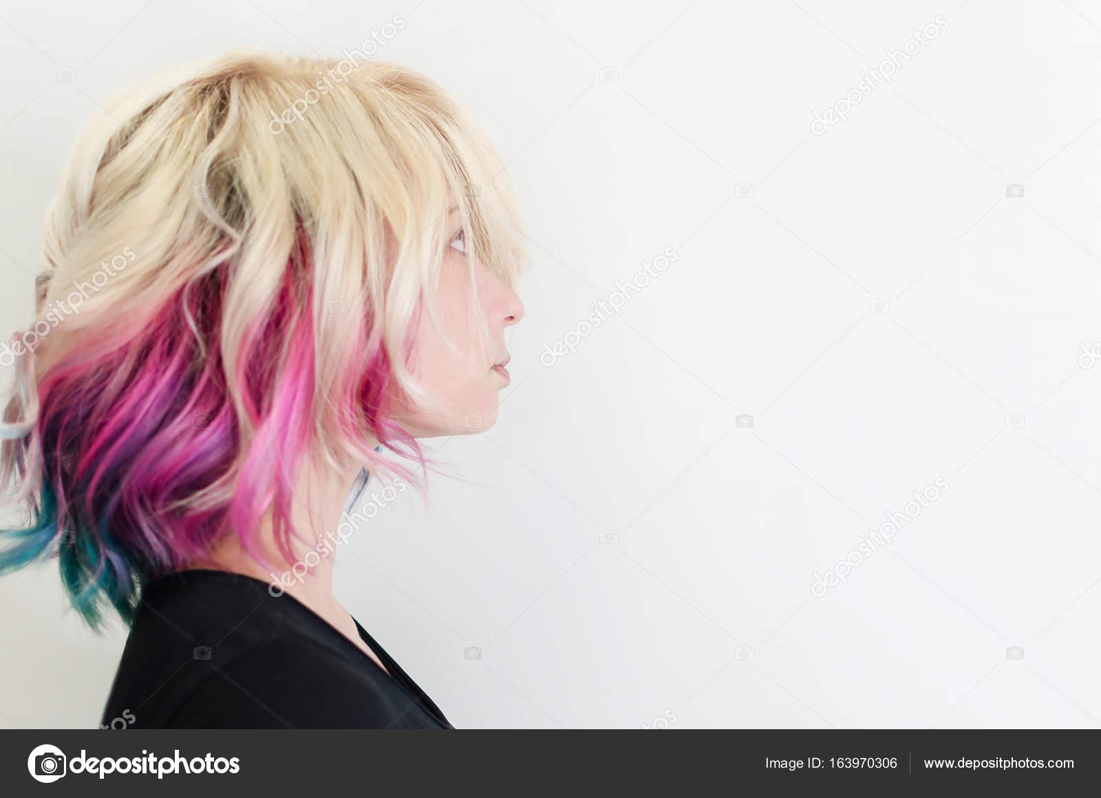 Belle Femme Avec Des Cheveux Magnifique Galaxie Photographie