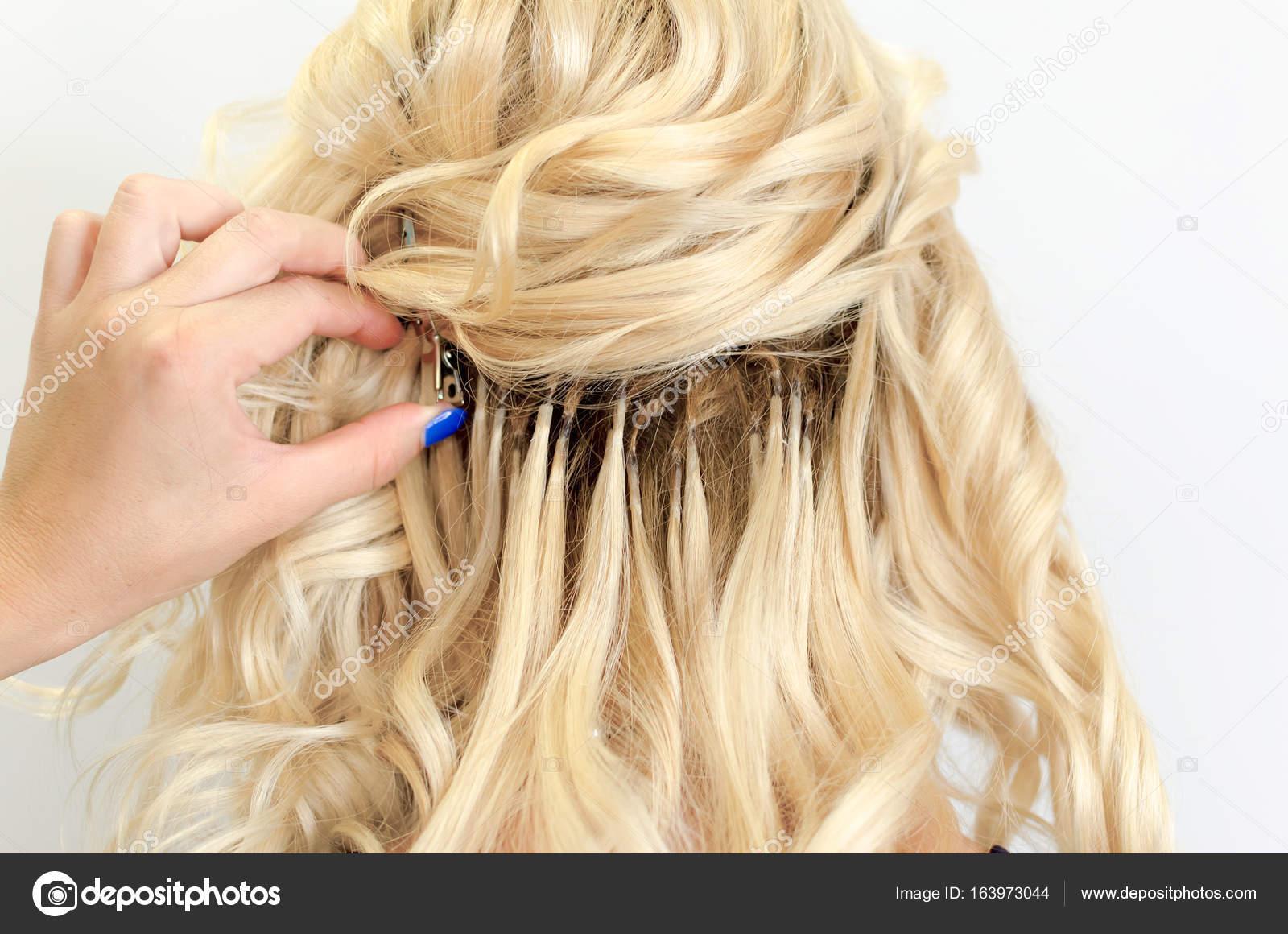 Beautiful Hair Extension Stock Photo Focusandblur 163973044