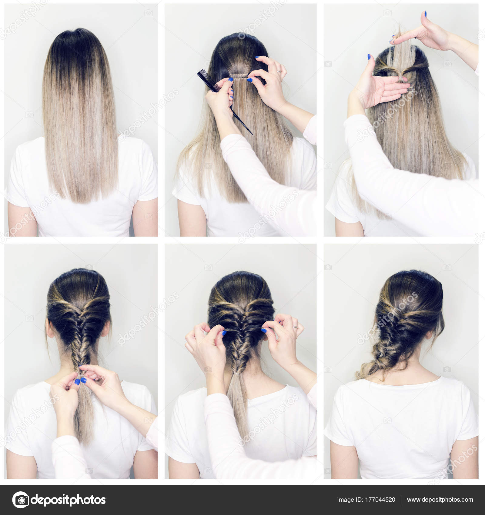 Einfache Frisur Volumen Zopf Auf Geraden Oder Lockiges Haar Frisur