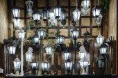 negozio di illuminazione e lampade per il cantiere, sacco, fuoco selettivo