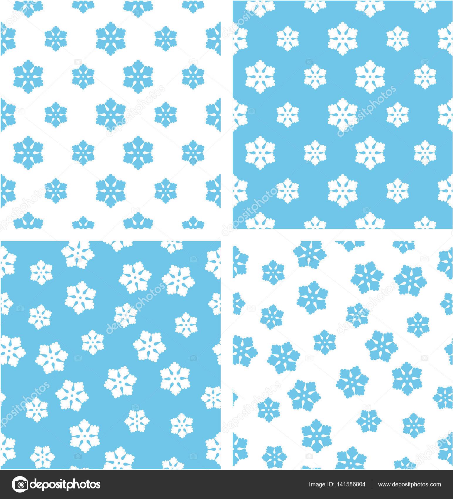 Copo de nieve de invierno grande y pequeño alineado conjunto Color ...