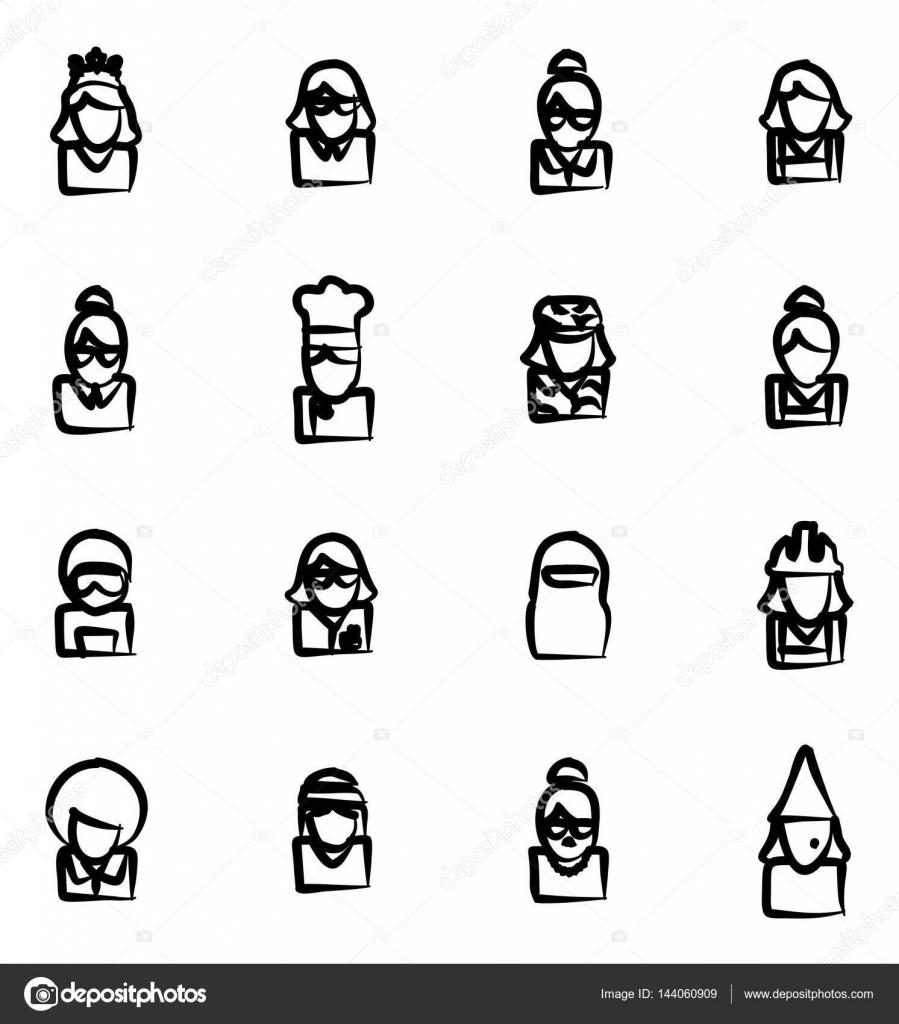 Avatar 6: Avatar Icons Set 6 A Mano Alzada