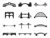 Icone di ponte nero  bianco