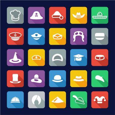 Hat Icons Flat Design
