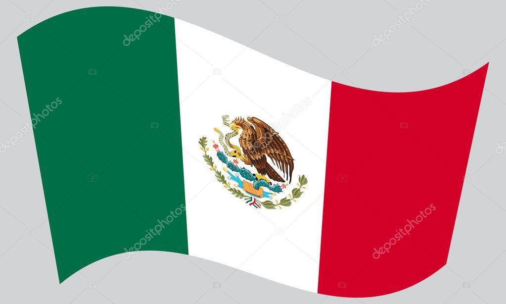 Vector Bandera De Mexico