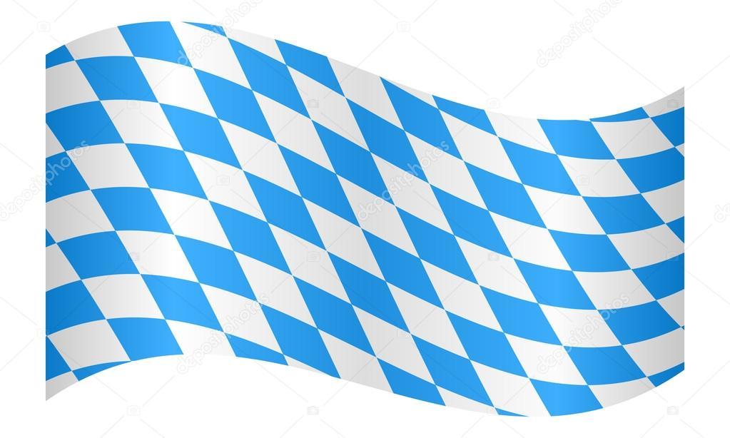 Флаг Баварии развевается на белом фоне — Векторное ...  Баварский Флаг