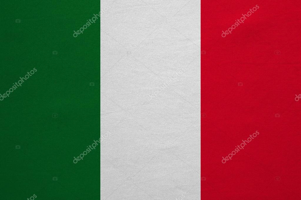 f59a75c8ee0db Bandeira da real Itália detalhada a textura da tela — Stock Photo ...