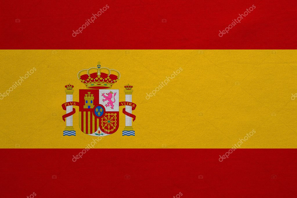 Flag Of Spain Real Detailed Fabric Texture Stock Photo C Photoroman 127800108