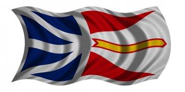 Newfoundland and Labrador flag waving, textured