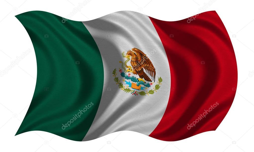 Bandera De México Ondulado