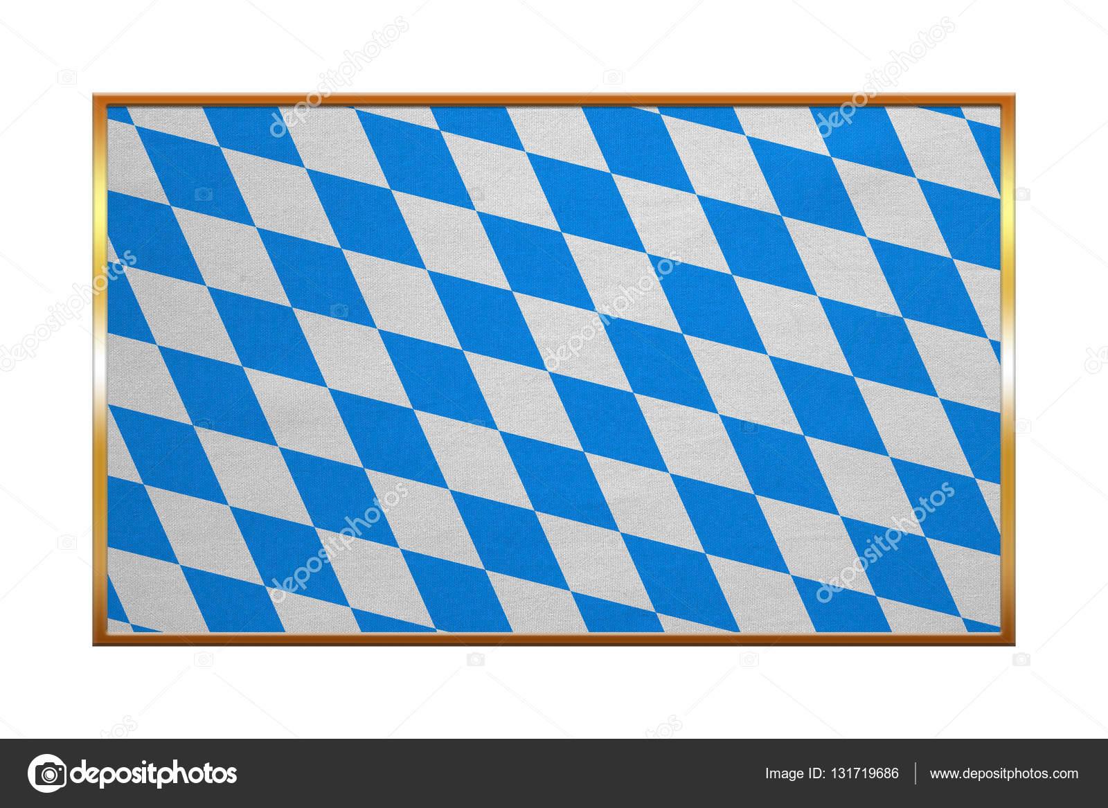 Bandera de marco de oro de Baviera, textura de la tela — Fotos de ...