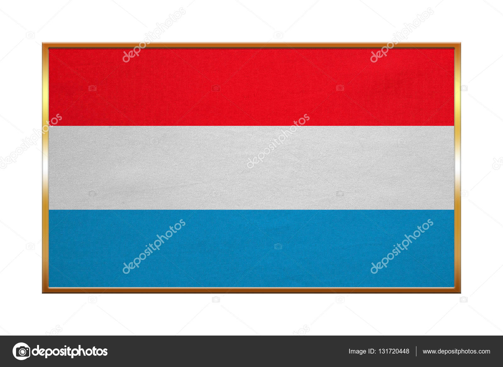 Flagge von Luxemburg, Goldrahmen, Stoff — Stockfoto © photoroman ...