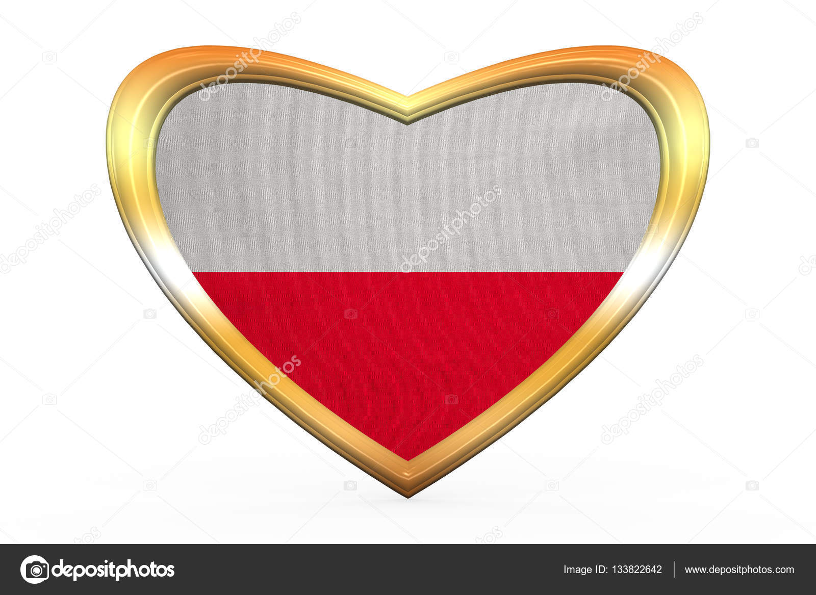 Flag of poland in heart shape golden frame stock photo polish national official flag patriotic symbol banner element background correct colors flag of poland in heart shape isolated on white background biocorpaavc