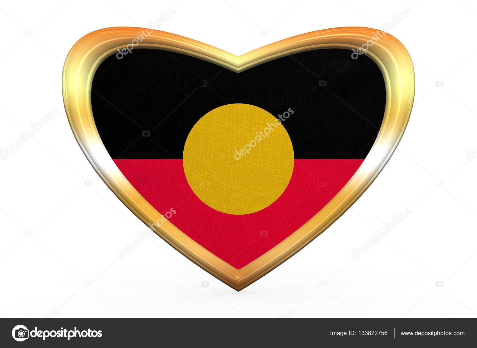 Australian aboriginal flag heart shape gold frame stock photo australian aboriginal official flag commonwealth of australia patriotic symbol banner correct color australian aboriginal flag in heart shape on white buycottarizona Gallery