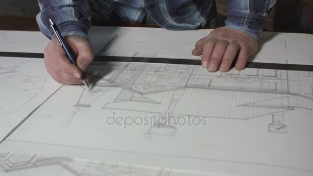 Architekt entwirft Entwürfe für Home Office 4k