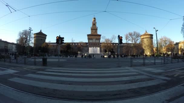 Piazza Castello Sforzesco Milano Italia