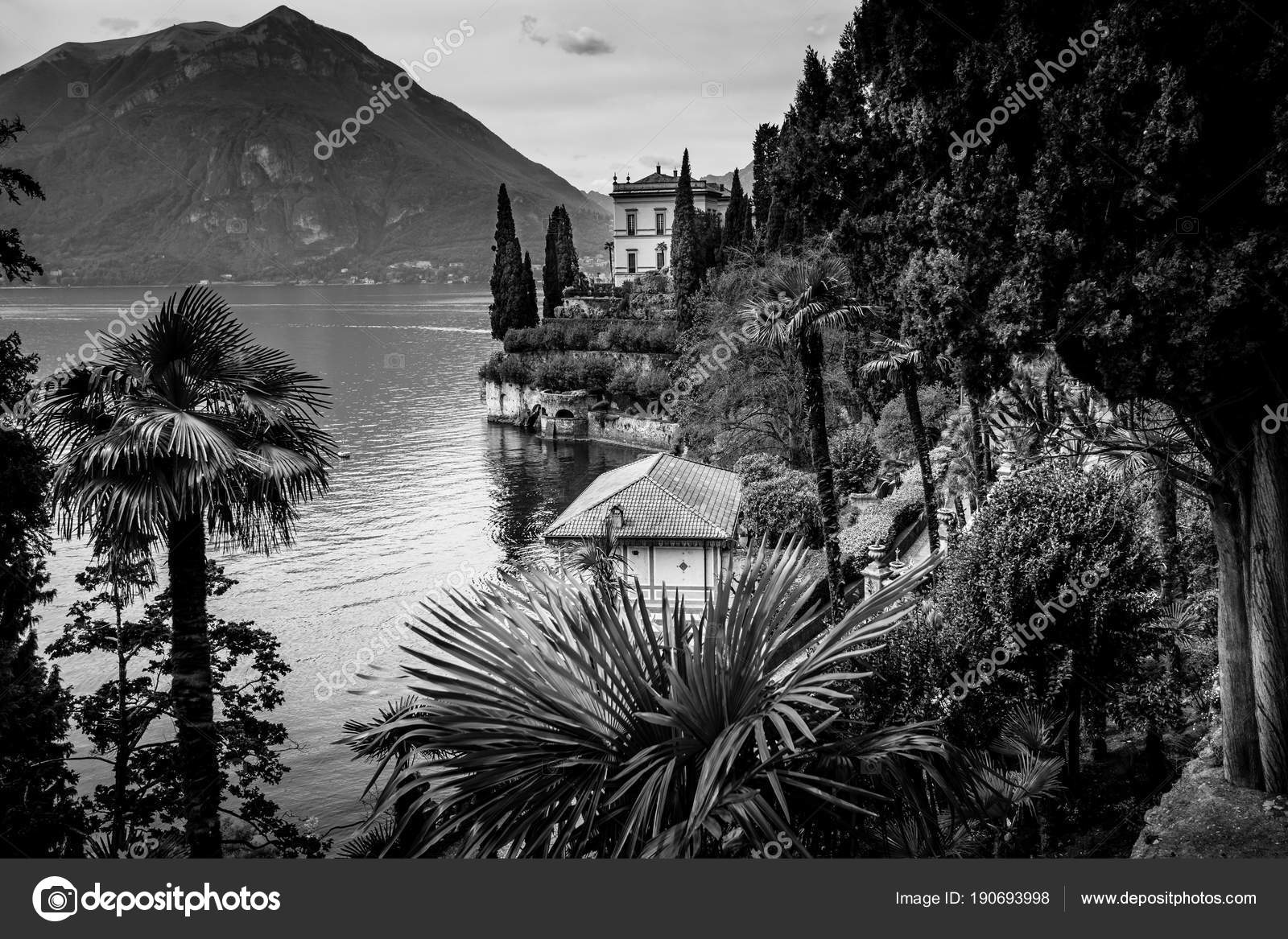 Como lake district black and white image photo by