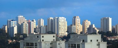 Apartment buildings in the city of Sao Paulo