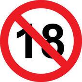 18 let omezení znak