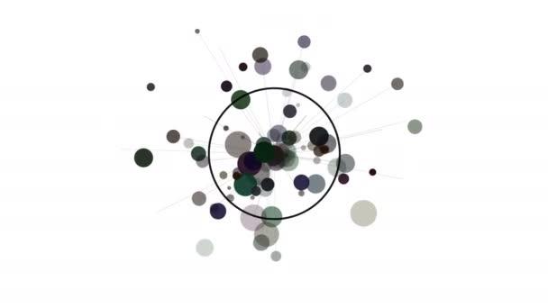Elemento di disegno del movimento astratto. Cerchi e raggi radianti.